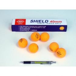 Loptičky na stolný tenis SHIELD 4cm bezšvové oranžovej 6ks v krabičke