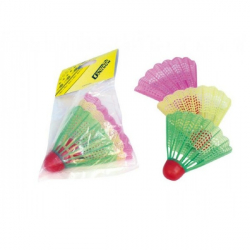 Badmintonové míčky/košíčky plast 3ks v sáčku 11x17cm
