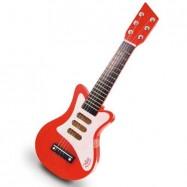 Dětské hudební nástroje - Červená rock'n'roll kytara