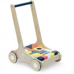 Vilaca Drevený vozík s farebnými kockami Canopée