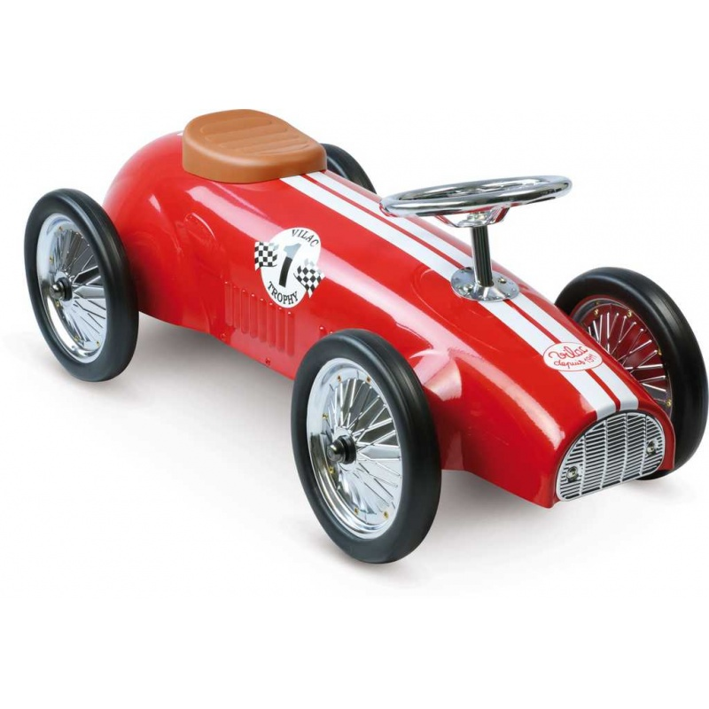 Vilac - Kovové jezdítko - Historické závodní auto - červené