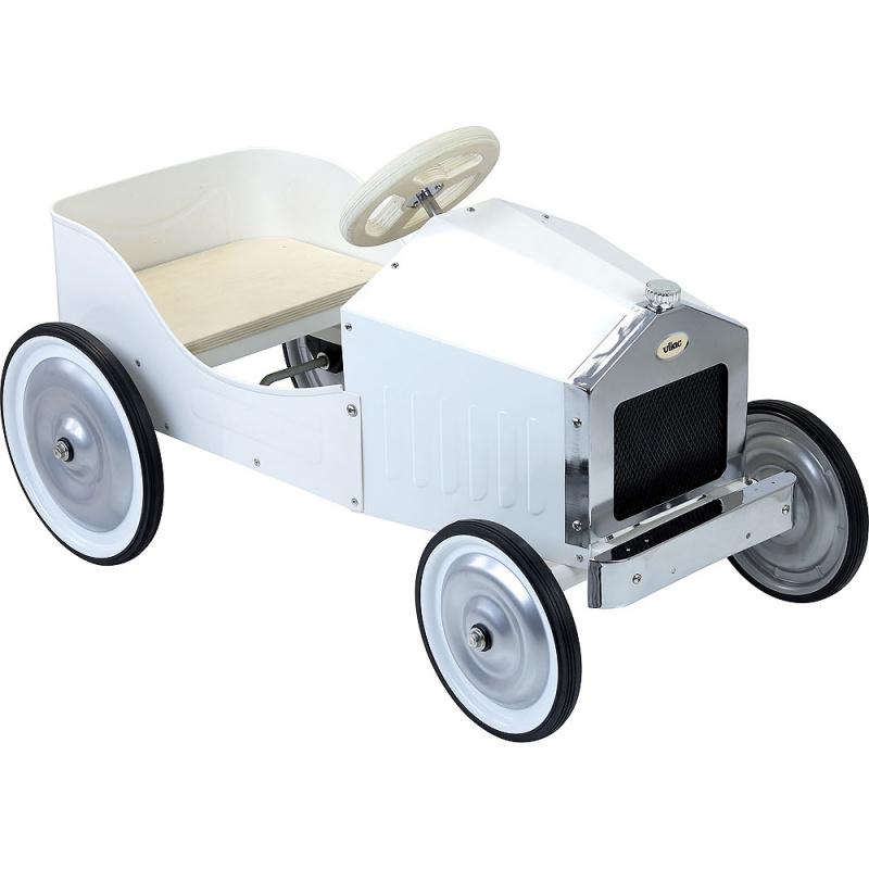Vilac Kovové šlapací auto bílé