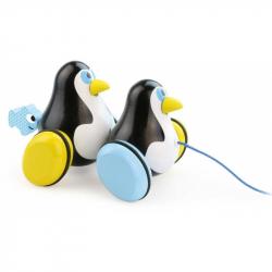 Drevená hračka Vilac - obojručné ťahacie tučniaky