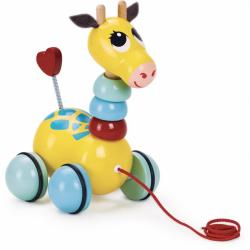 Vilac - Drevená ťahacia hračka - Žirafa