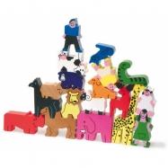 Dřevěná hračka Vilac - Věž ze zvířátek