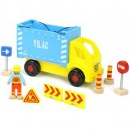 Tir z kontenerem i zestaw do budowy Vilacity - Vilac VIL-02347