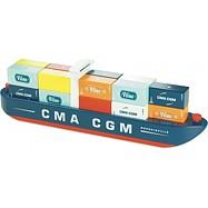 Vilacity - Dřevěná nákladní loď s kontejnery