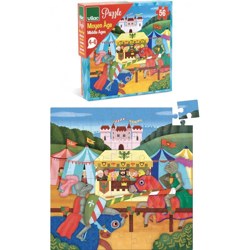 Vilac Puzzle rytířský turnaj 56 dílků