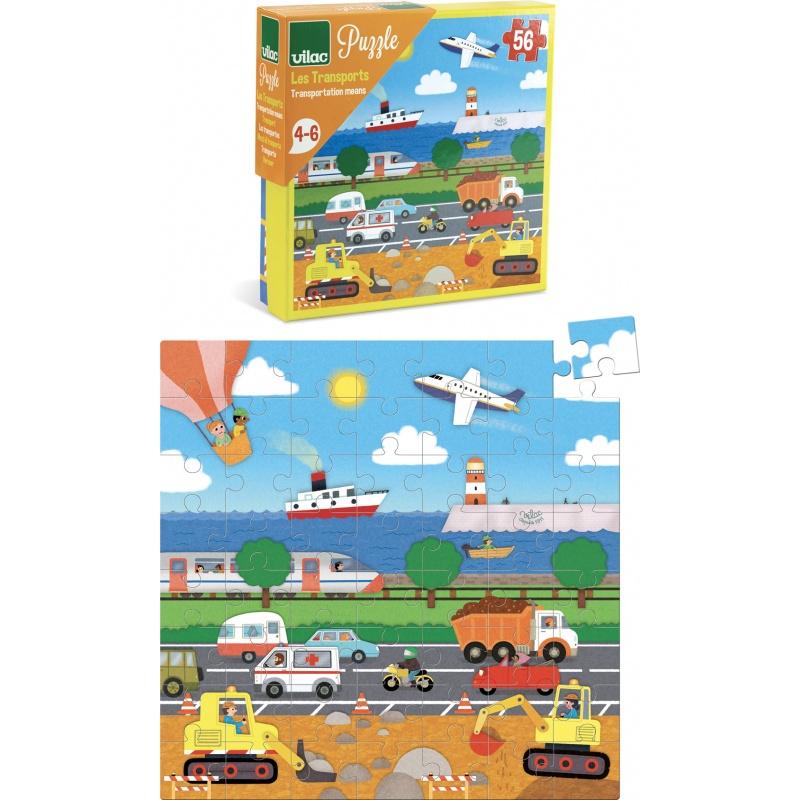 Vilac Puzzle dopravní prostředky 56 dílků