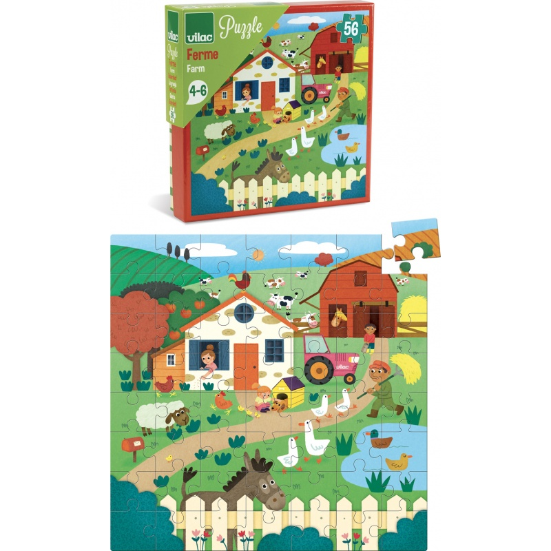 Vilac Puzzle farma 56 dílků