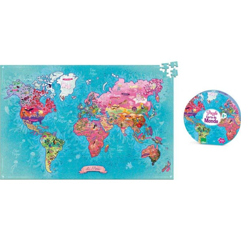 Vilac - Puzzle mapa světa 500 dílků