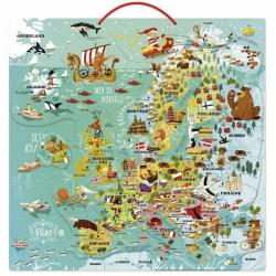 Vilac Nástenná magnetická mapa Európy