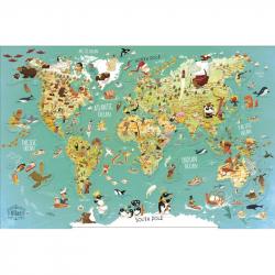 Vilac Nástenná magnetická mapa sveta 78 dielikov anglické texty