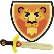 Vilac Drevený štít a meč Lev