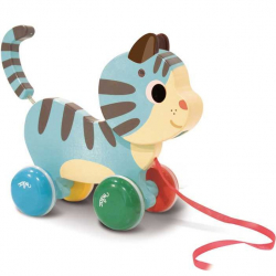 Drevená hračka Vilac - drevená ťahacie mačička