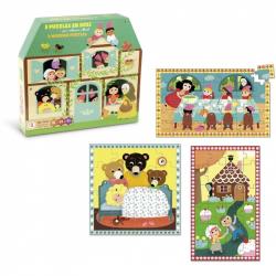 Vilac drevené rozprávkové puzzle 3v1