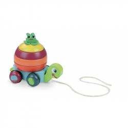 Vilac - Drevená ťahacia hračka - Skladacia korytnačka