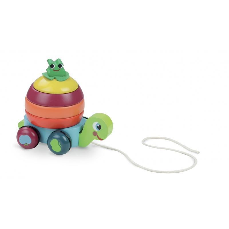 Vilac - Dřevěná tahací hračka - Skládací želva