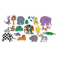 Vilac - Dřevěné magnetky slon Elmer 20ks