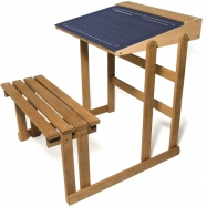 Vilac Dřevěná lavice s oboustrannou tabulkou
