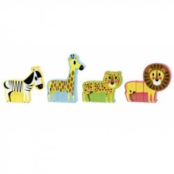 Drevená hračka Vilac - Drevené puzzle - Veselé safari