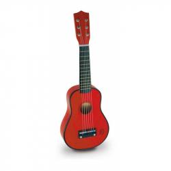 Dziecięcy instrument muzyczny – czerwona gitara