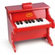 Vilac dětské hudební nástroje - Klavír červený