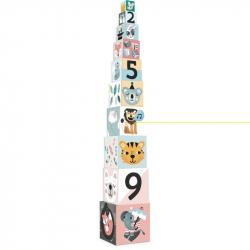 Vilac skladacie kocky zvieratká s číslami