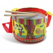 Dětské hudební nástroje - Buben s paličkami
