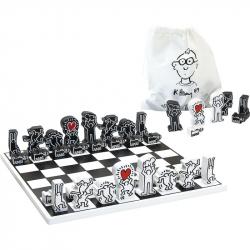 Vilaca Moderné drevené šachy Keith Haring