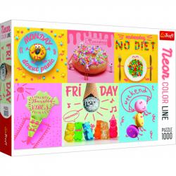 Puzzle Neon Color Line - Sladký týden 1000 dílků