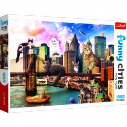 Puzzle Crazy City Kočky v New Yorku 1000 dílků
