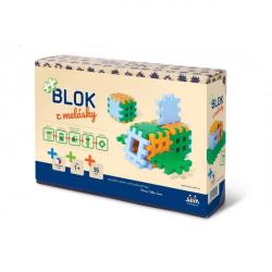 Stavebnica Blok z melásky 36ks v krabici 22x15x6cm 12m +