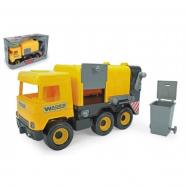 Auto middle Truck popelář plast 42 cm žlutý