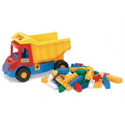 Auto multitruck s kockami plast 38 cm asst