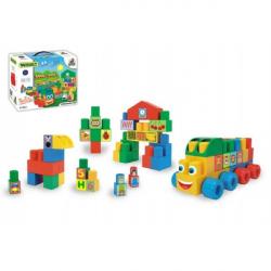 Kocky stavebnice Middle Blocks plast 33ks v krabici 30x25x12cm Wader