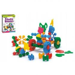 Kocky stavebnice Funny Block 36ks Wader v krabici 19x25cm