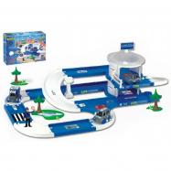 Garáž a dráha Kid Cars 3D Policie plast 3,8m v krabici Wader