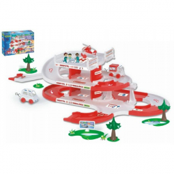Garáž + dráha Kid Cars 3D Nemocnica plast 4,8m v krabici