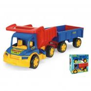 Auto Gigant Truck sklápěč + dětská vlečka plast 55 cm