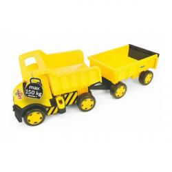 Auto Gigant Truck + vlečka plast v krabici Wader
