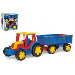 Traktor Gigant s vlečkou plast 102 cm v krabici Wader