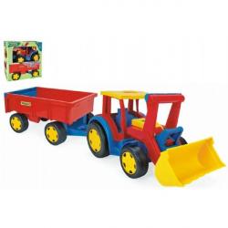 Traktor Gigant nakladač s vlečkou plast 102 cm Wader v krabici