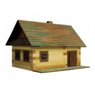 Dřevěná slepovací stavebnice Walachia roubená chalupa