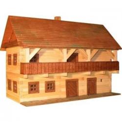 Drewniany zestaw do sklejania W-5 Dom piętrowy z tarasem