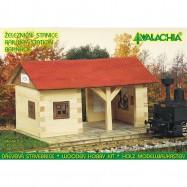 Dřevěná slepovací stavebnice Walachia Železniční stanice