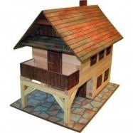 Drewniany zestaw do sklejania W-14 Dom piętrowy z tarasem 194 elementy