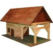 Dřevěná slepovací stavebnice Walachia Kůlna