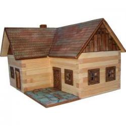 Drewniany zestaw do sklejania deski W-18 Dom L 154 elementy