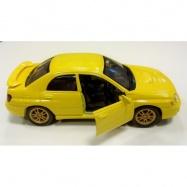 Welly - Subaru Impreza WRX model 1:34 žlutý